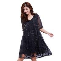 2018 summer lace dress large size dress 3xl & 4xl & 5xl lace vestidos Korean women's sexy fashion dress New dress