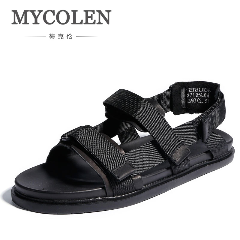 MYCOLEN Summer Men Breathable Casual Sandals Handmade Comfortable Outdoor Shoes Fashion Shoes Classic Style Male Sandals Shoes цена 2017