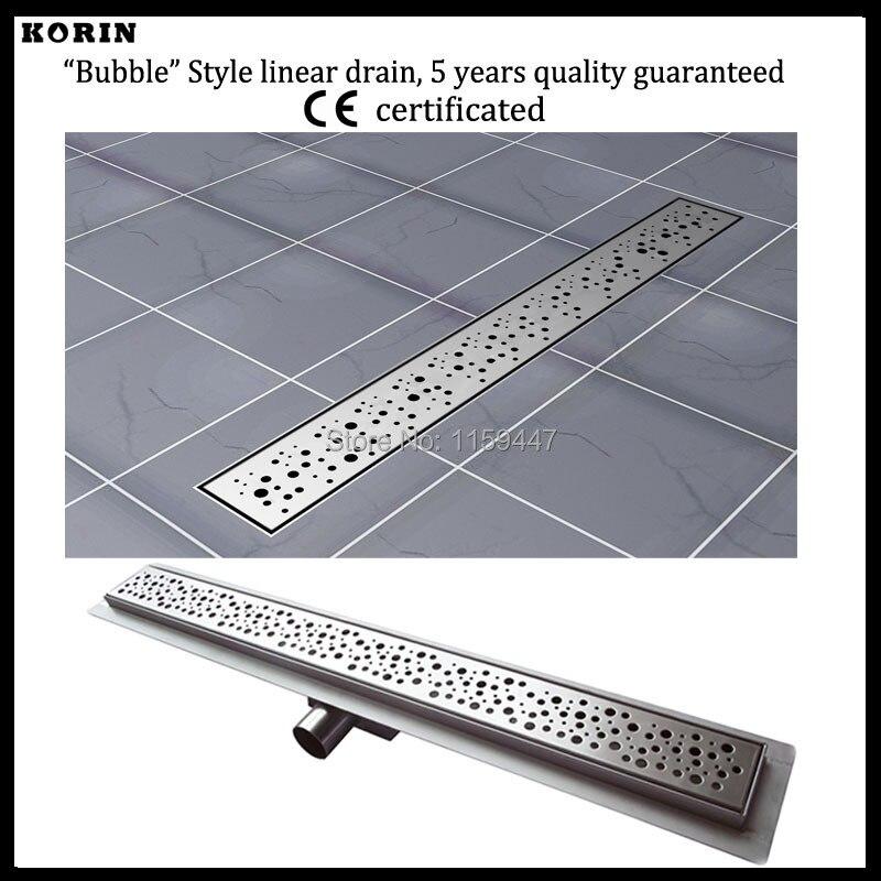Drain linéaire de douche de l'acier inoxydable 700 de Style «bulle» de 304mm, Drain Horizontal, déchets de plancher, drain de plancher de désodorisant d'insert de tuile