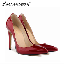 Fashion Pointed Toe High Heels Women Shoes Pumps PU Leather Spring Antumn Wedding Party Shoes Work Pump 302-1pa