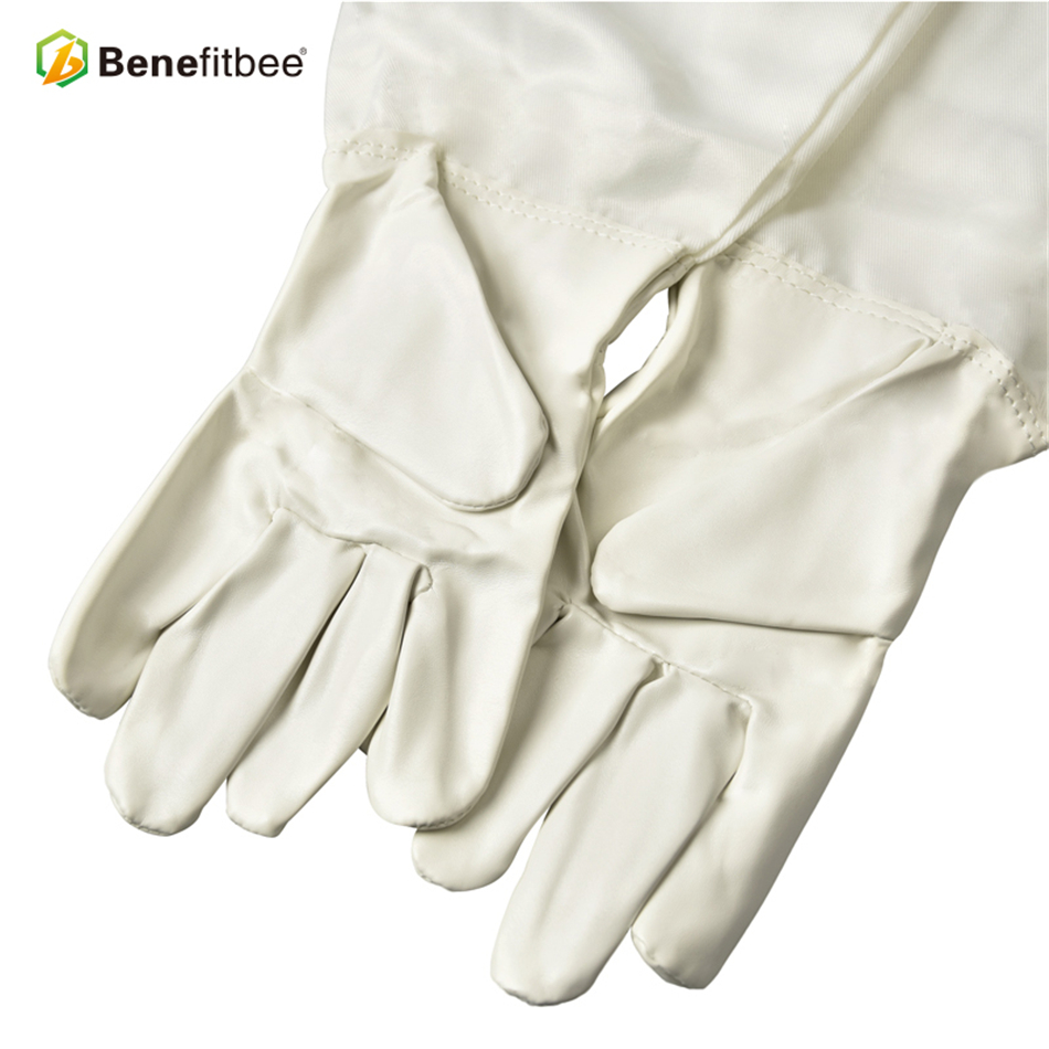 Benefitbee Brand Beekeeping Gloves PU Leather Beekeeper Gloves Protective Sleeves Bee keeping Glove Apiculture Equipment-in Beekeeping Tools from Home & Garden