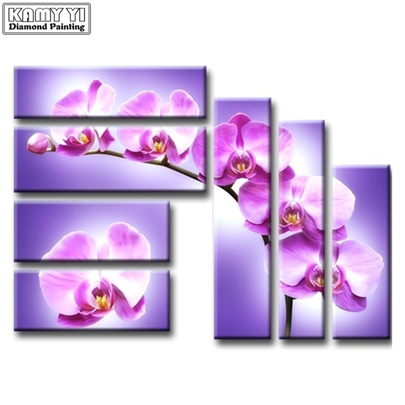 Diamond painting orchid diamond embroidery triptych paintings from crystals diamond mosaic decoration pictures needleworkDiamond painting orchid diamond embroidery triptych paintings from crystals diamond mosaic decoration pictures needlework