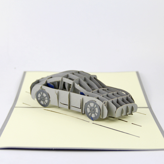 Luxury sports car life card/3D  kirigami card/ handmade greeting cards gift for men  Free shipping 2008 donruss sports legends 114 hope solo women s soccer cards rookie card