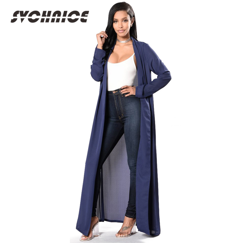 4afa303e27 Solid Chiffon Cardigan Women 2018 Fashion Kimono Long Cardigan Coat For  Womens Summer Cardigan Long Sleeve