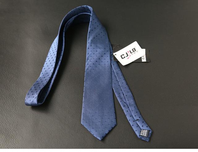 Mens Silk Tie Navy Blue Striped Formal Necktie 8cm Business Wedding New Fashion Gravatas Luxury Handmade Men's Silk Ties For Men