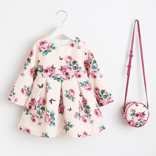 Girls Dress Unicorn Party Children Clothing Princess Dress with Bag 2018 Baby Clothes Kids Flower Dresses for Girls Costumes цена в Москве и Питере