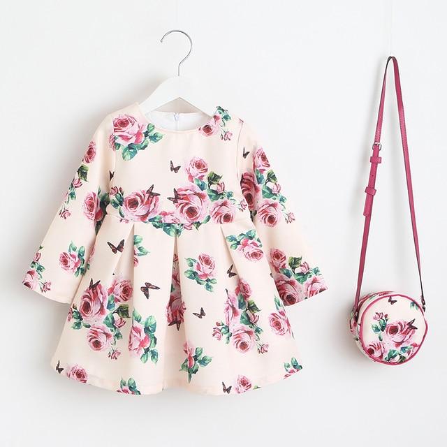 Niñas Vestido Unicornio Fiesta Niños Ropa Princesa Vestido Con Bolsa 2018 Ropa De Bebé Niños Vestidos De Flores Para Niñas Disfraces