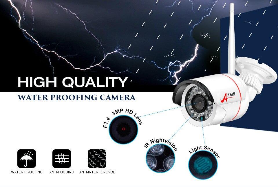 Купить ANRAN H. View 720 P Домашней Безопасности WI-FI Ip-камера День/Ночного Видения Onvif H2.64 Беспроводной Сети ВИДЕОНАБЛЮДЕНИЯ камера С Удаленного Просмотра