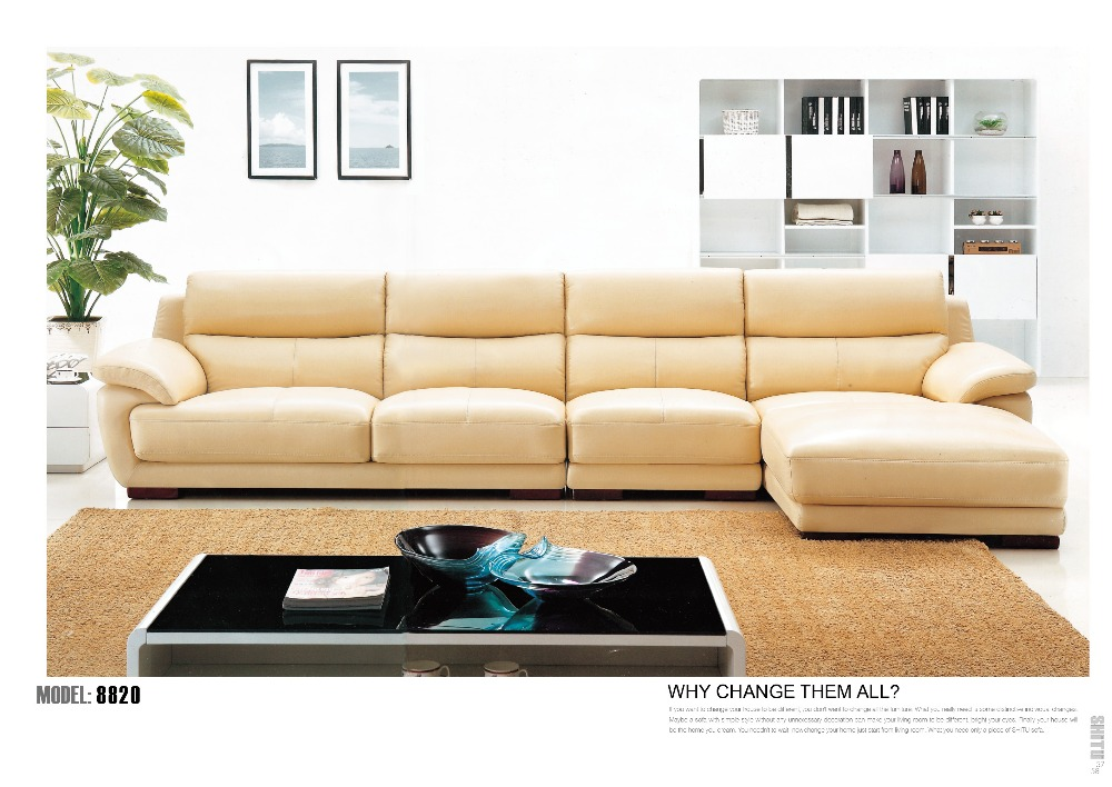 modern corn sofa sectional leather sofa - Sectional Leather Sofas