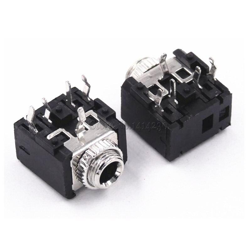100 pces pj306m pj 306m 35mm femea conector 01
