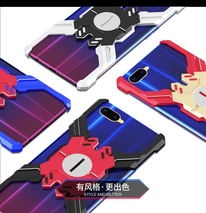 For OPPO R15X case Luxury Armor Metal Shockproof case for OPPO K1 Hero Mechanical Heavy Duty Cover for OPPO R15X R15 X Case in Fitted Cases from Cellphones Telecommunications