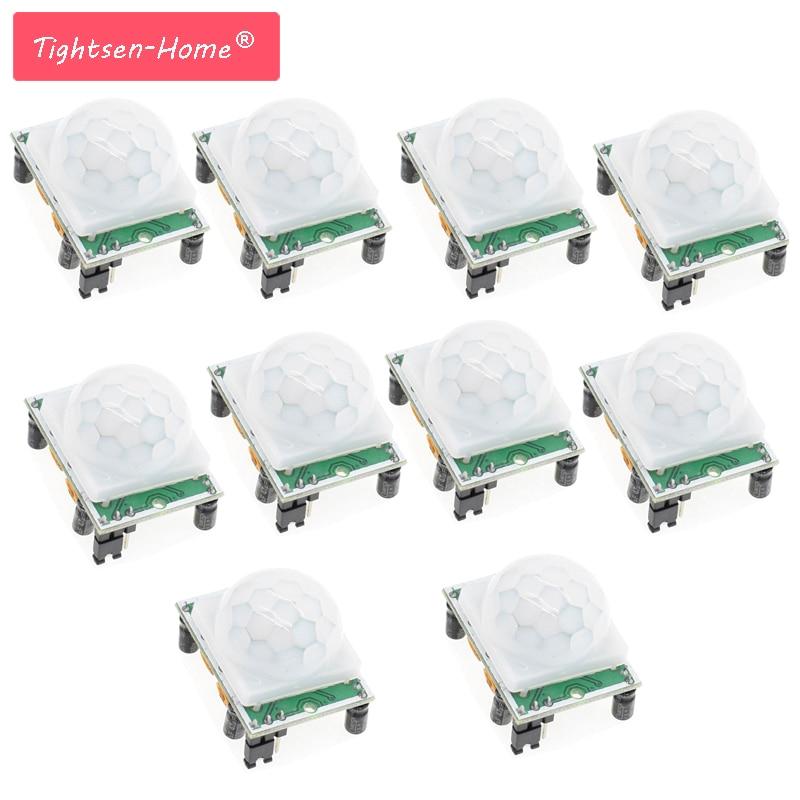 10pcs/LOT HC-SR501 Adjust IR Pyroelectric Infrared PIR Motion Sensor Detector Module For Arduino UNO For Raspberry Pi Kits