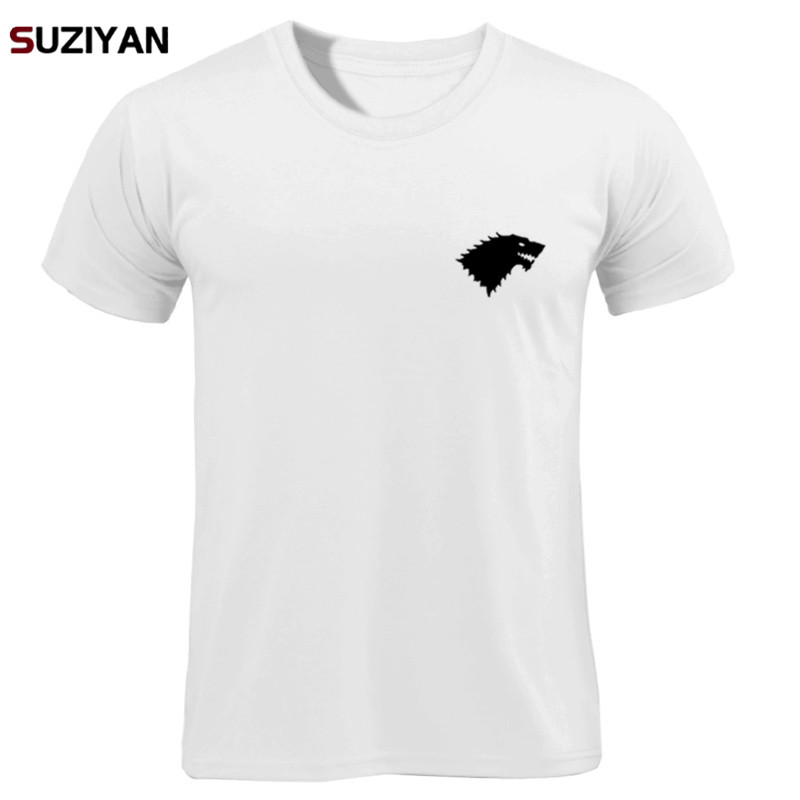 Men's Wolf Print Tshirt Loose Casual   T  -  Shirts   Short Sleeve   T     Shirt   Spring Summer Casual Men's O Neck Homme 2019 Brand Tops Tees