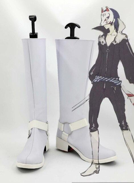 Persona 5 Kitagawa Yuusuke White Halloween Cosplay Shoes Boots-in ...