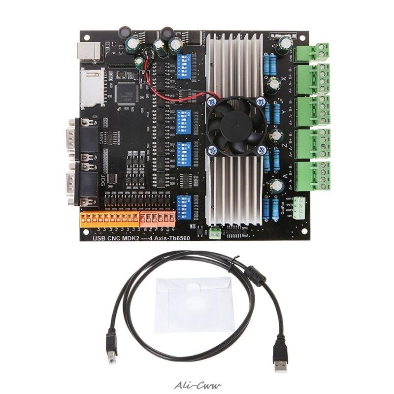 Carte pilote de moteur pas à pas USB MDK2 4 axes Tb6560 3.5A 24 V avec Interface MPG pour la gravure sur CNC