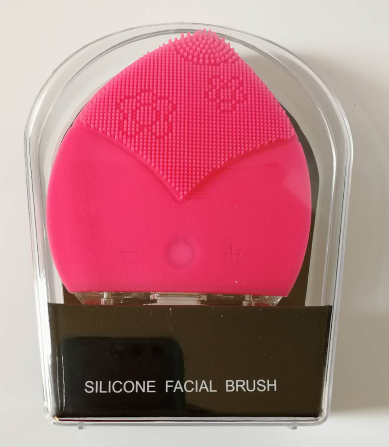 Mini electric facial cleaning mage brush sonic face washing machine  waterproof silicone face cleanser dirt remover