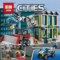 Lepin 02019 606Pcs City Series The Bulldozer Break In Set Children Educational Building Blocks Bricks Boy
