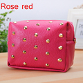 2017 Fashion 5Colors Girls Women Messenger Bags Small Rivet Shoulder PU Leather Casual Evening Phone Pouch Free Shipping J459
