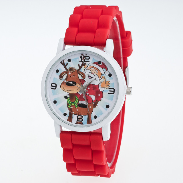 Chrismas Gift Santa Claus Hot Sales Geneva Brand Silicone Women Watch Ladies Fas