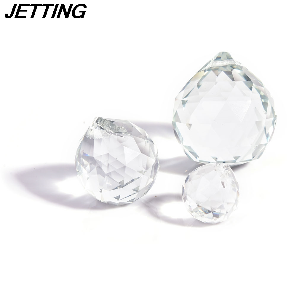 Clear 20/30/40mm Faceted <font><b>Glass</b></font> <font><b>Crystal</b></font> Ball Prism Chandelier <font><b>Crystal</b></font> Parts Hanging Pendant Lighting Ball <font><b>Suncatcher</b></font> Home Decor image