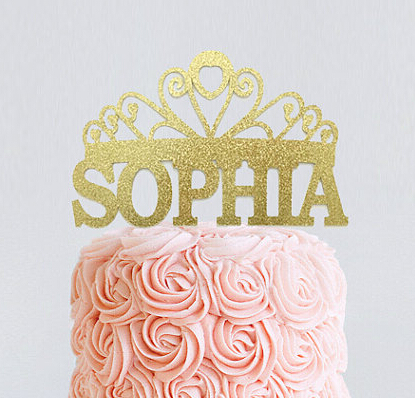 6f1fc7a39118 Acrylic Personalized name Tiara Engagement princess baby bridal shower  Birthday Cake Toppers tools wedding party decorations