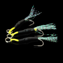 High Carbon Steel Jigging Fishing Hooks Barbed Jig Pesca Sea FishHooks 2 Pcs/Lot