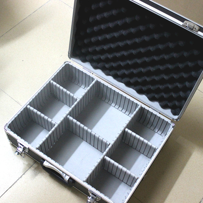 box aluminium tool case magic props file storage Hard Carry carrying box tool for Hand Gun Locking Pistol 46*35*15CM hard silicone tool storage box orange