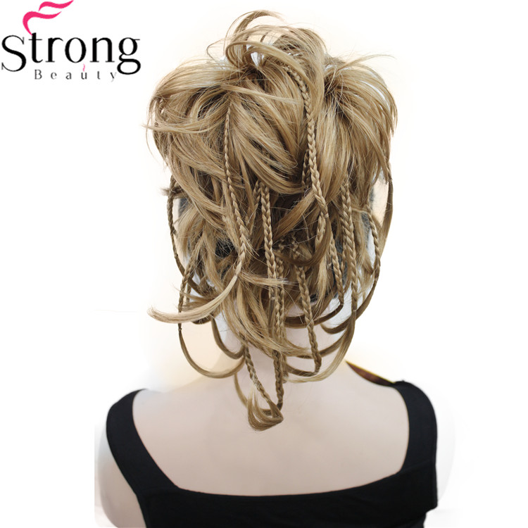 StrongBeauty 12 Inch Adjustable Messy Style Ponytail Hair Extension Synthetic Hair-Piece With Jaw Claw COLOUR CHOICES