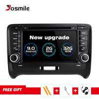 Car Multimedia Player 2 Din Android 9.0 For AUDI TT MK2 8J 2016 2007 2008 2009 2010 2011 2012014 GPS Navigation System Radio DVD