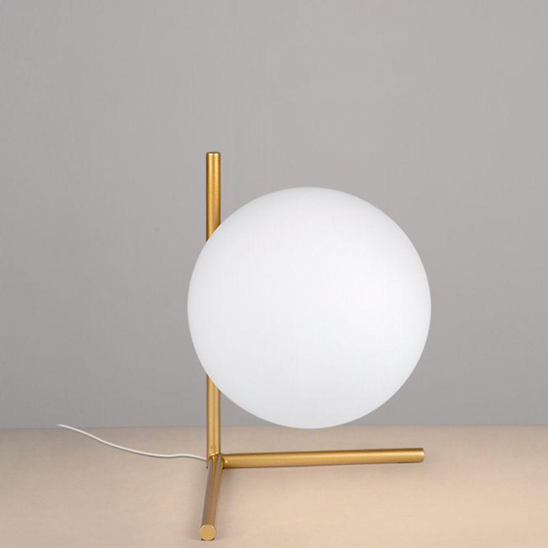 Modern Table Lamp Glass Ball Book Lights Desk Night Light E27 Nordic Bedside Lamp La Lamparas Bedroom Bar Cafe Reading Lighting