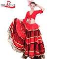 Señoras Vestido de Lujo Falda de Baile Flamenco Español Senorita Rumba Salsa Traje/traje de flamenca