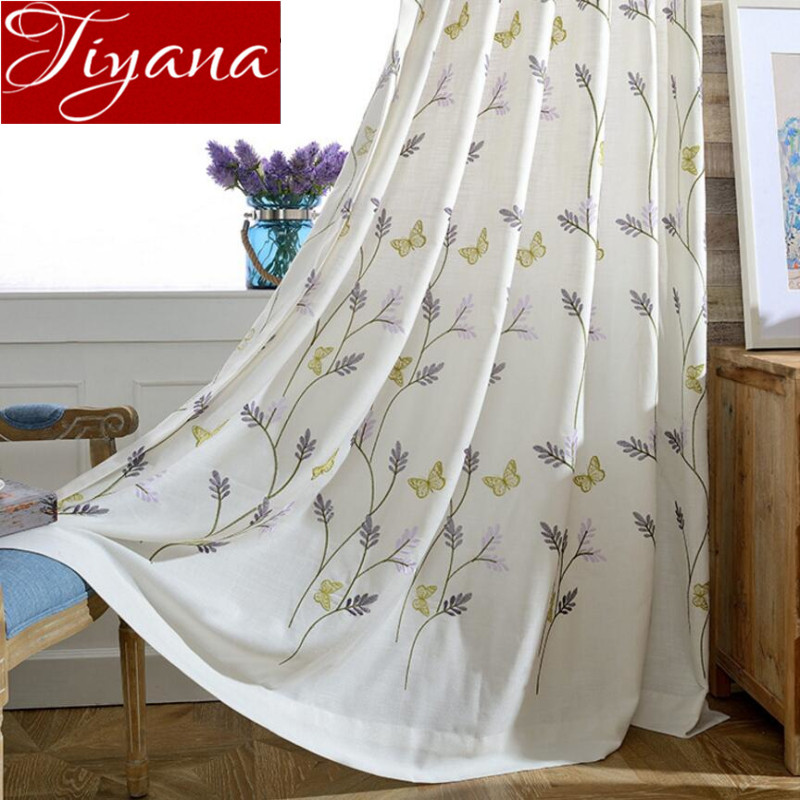 mariposa cortinas de gasa bordada ventana curtians modernas cortinas del saln rsticos cortinas y telas de