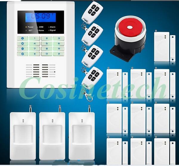 customized 101 defense zones DIY alarm Intelligent SMS Voice alert remote control GSM850/900/1800/1900MHz PSTN Alarm System
