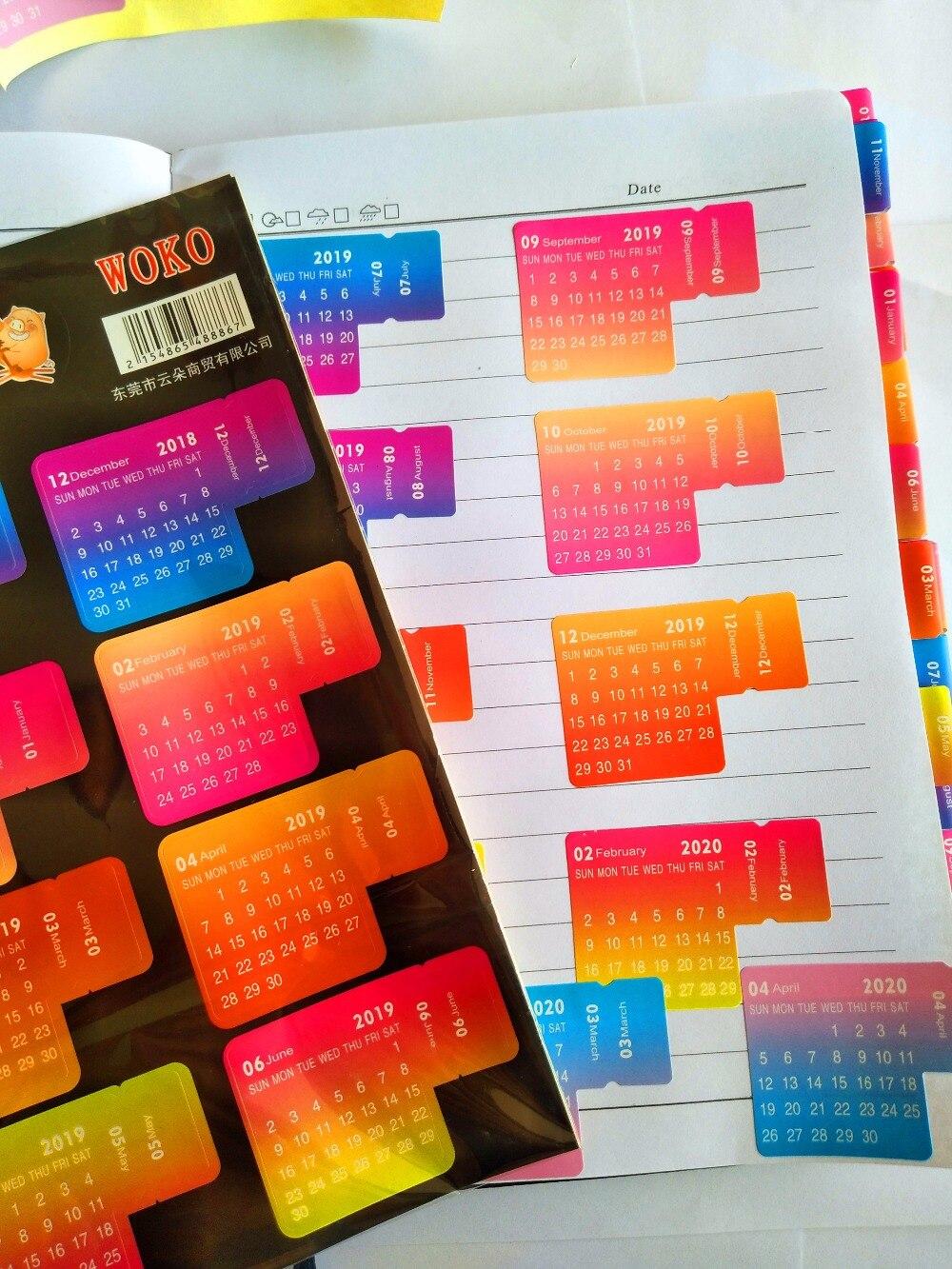 Kalender Kalender, Planer Und Karten 5 Arten 2019 Neue Jahr Bunten Kalender Aufkleber Diy Dekorative Journal Für Tagebuch Planer Notebooks Schreibwaren Kalender Aufkleber Schrumpffrei