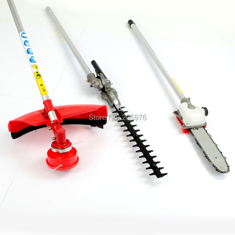 Tools : New Model High Quality Original GX35 Engine Multi Brush CutterPole SawHedge TrimmerLine Strimmer 4 in 1