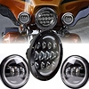 Angle Eye Set 7 Daymarker Headlight H4 Hi Low Beam With 30w Motorcycle 4 5 4