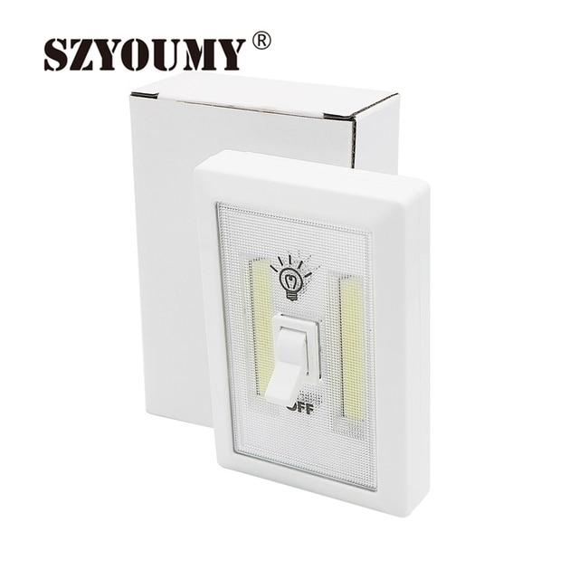 SZYOUMY Mini COB LED Cordless Lamp Switch Wall Night Lights Home Use  Bedroom Wardrobe Garage Closet