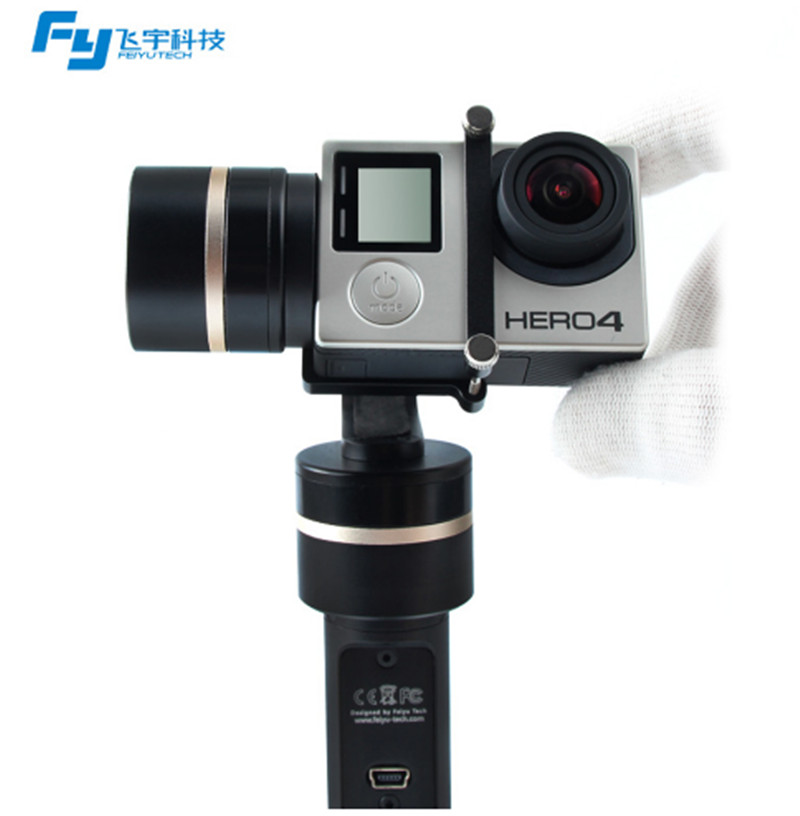 Feiyu Tech Feiyu FY G4 3 axis handheld gimbal Steadycam Gimbal for gopro3 4 FY G4 Gimbal,Only blue version feiyu tech fy mini3d pro 3 axis 6 damper ball brushless gimbal for gopro4 gopro3 gopro3 sport camera