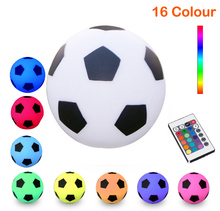 D22cm 8.66inch Romantic Soccer Football Style 16 Color Changing Waterproof IP54 LED Table Lamps with RI Remote free shipping 1pc