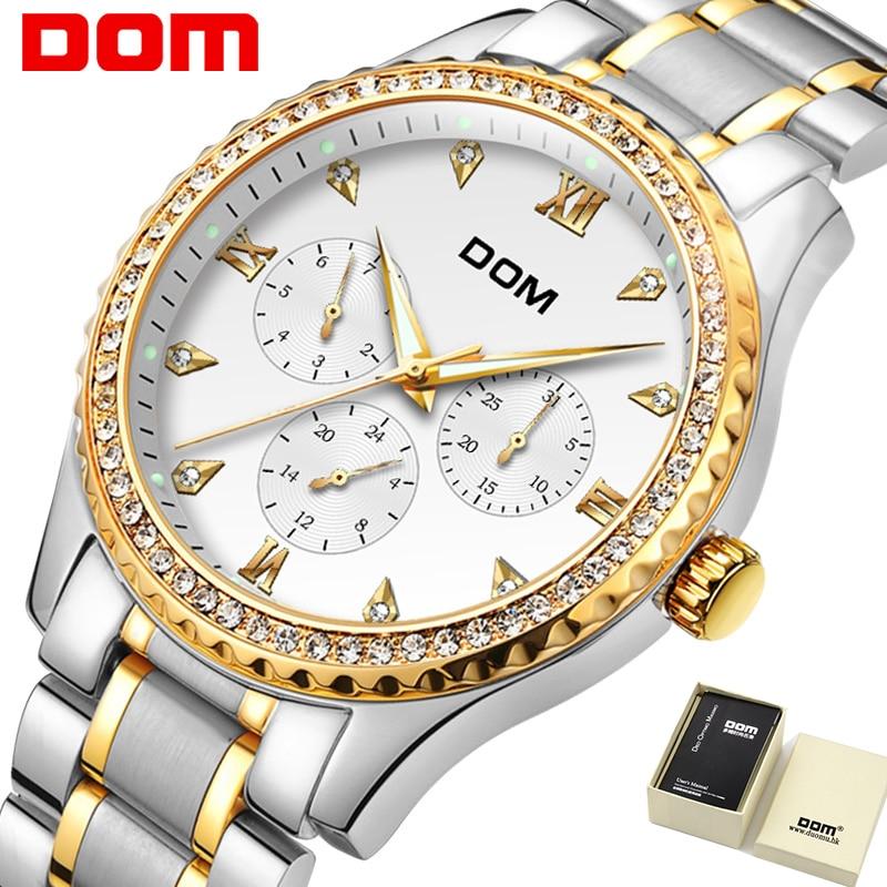07895bcd2 DOM Hodinky dámské móda luxusní Značka Nejlépe zlato Wolframová ocel ...