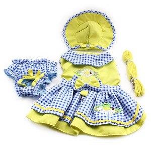 Image 2 - Armi Storeดอกไม้รูปแบบสุนัขชุดเจ้าหญิงชุดสุนัข6071055สัตว์เลี้ยงอุปกรณ์ (ชุด + หมวก + กางเกง + = 1ชุด