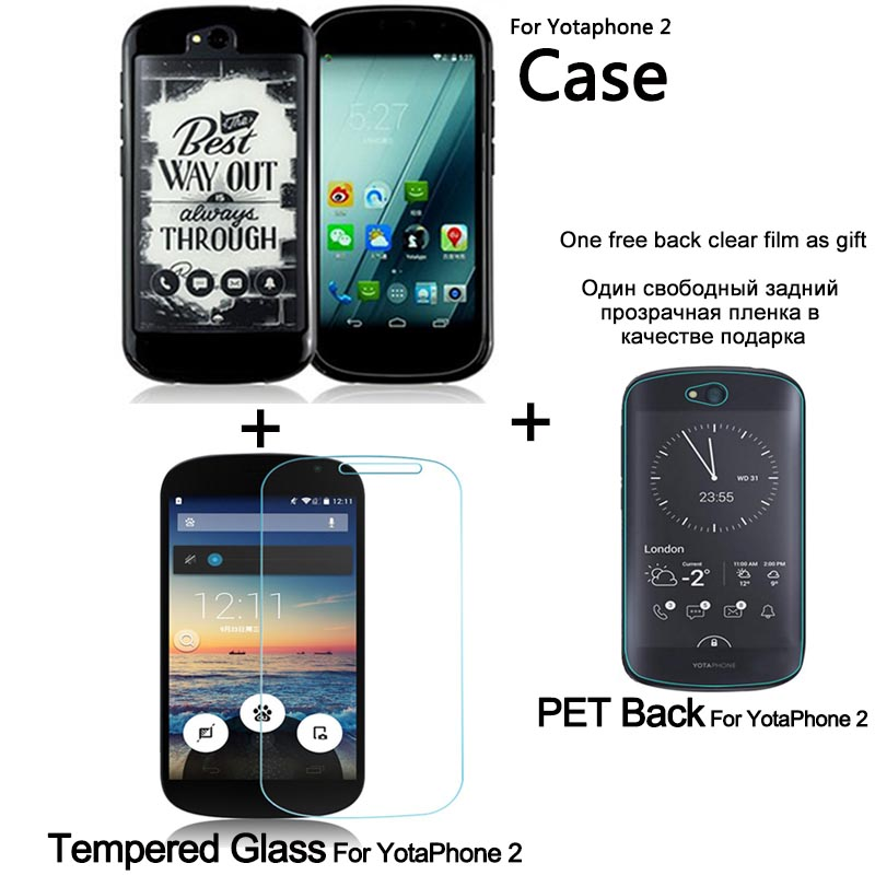 Untuk Yota Phone 2 silikon tutup pelindung dan Pelindung Layar Kaca - Aksesori dan suku cadang ponsel