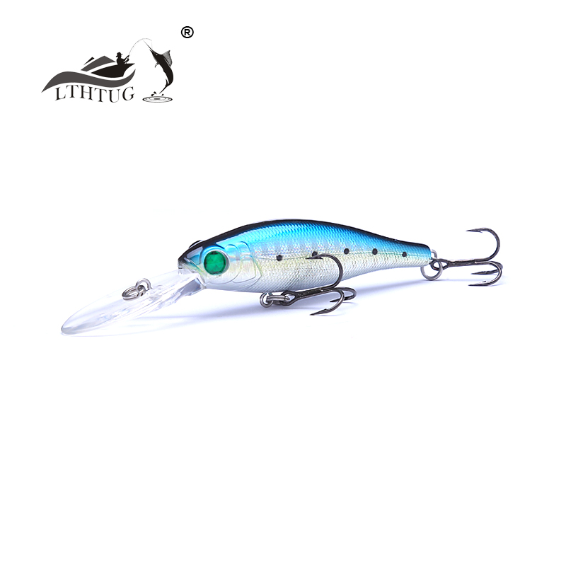 2018 Ilure Good Quality Pesca Fishing Lure Hard Artificial Baits 60mm 6.9g Floating Minnow Fishing Wobblers Depth 2m Bass Bait