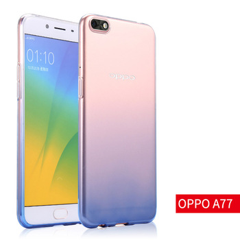 OPPO A77 soft case transparent color gradient cover 5.5