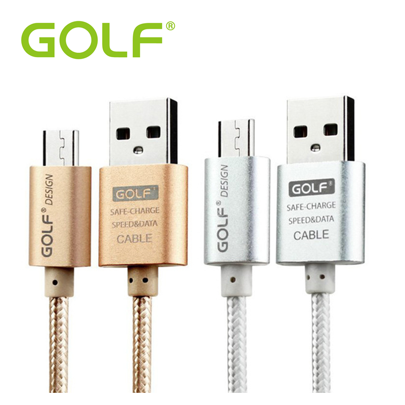 Golf Micro USB Cable Mobile Phone Andriod Cable Data sync Fast Charging Adapter 5V 2A 1m 2m 3m Charger cable For Samsung HTC