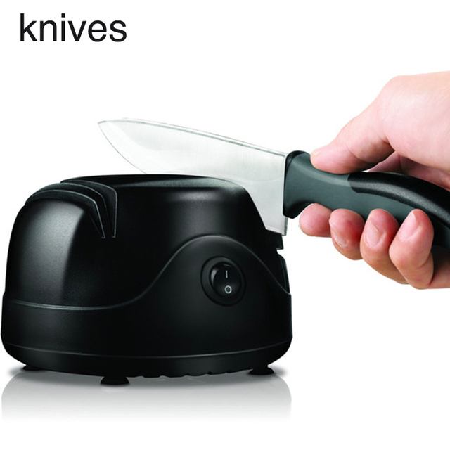 US $39 32 41% OFF|Electric Grinder Automatic Multi function Small scale  Fast Household Steel Knife Tools Scaler Kitchen Utensils Plastic Handle-in