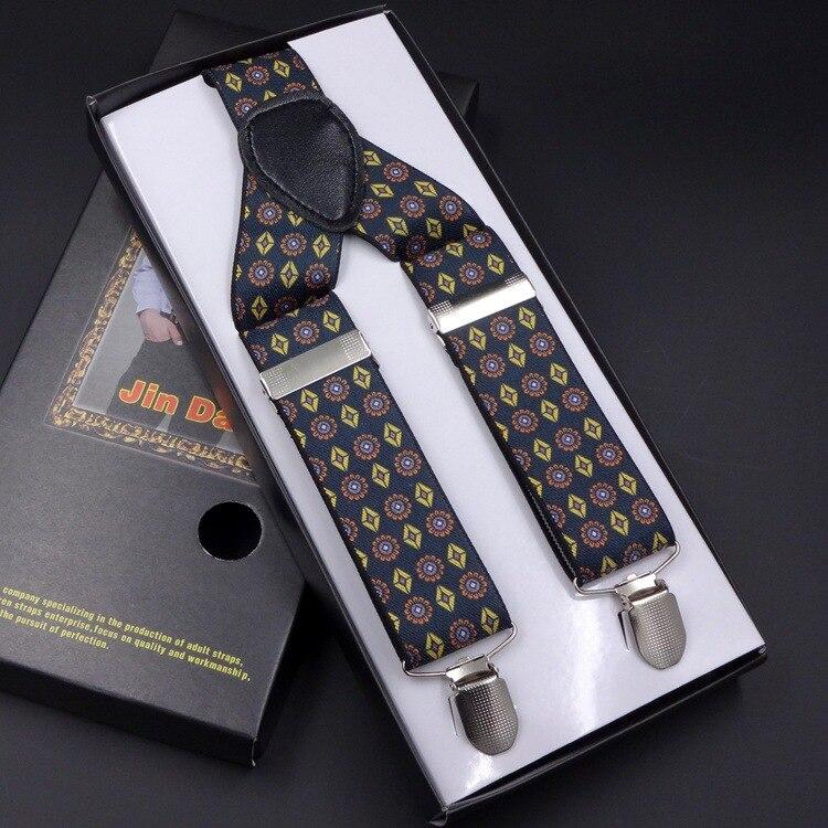 2017 Mode Gedruckt Hosenträger Drei Clips-auf Zahnspangen Vintage Herren Strumpf Für Männlichen Wir Nehmen Kunden Als Unsere GöTter