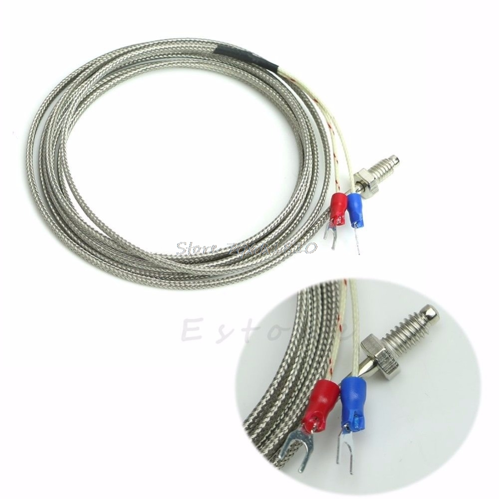 2m M6 K Type 0 600 Degree Screw Thermocouple Temperature Controller Complete Package Pid Probe Ssr Sensor Z07