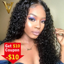 11037a078 Glueless Lace Front Human Hair Wigs Pre Plucked Brazilian Remy Water Wave  Lace Front Wig For Black Women Bleached Knots 8-26inch