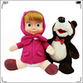Masha and Bear Cartoon Plush Doll Masha Y El Oso Masha and The Bear Stuffed  Plush Kids Toys for Girls Masha and Bear Toys